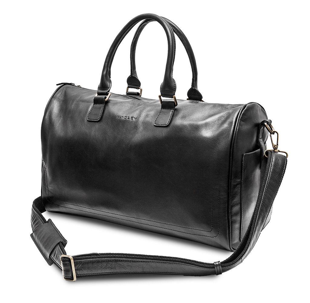 HADLEY LANFORT BLACK дорожная сумка из буйволиной кожи