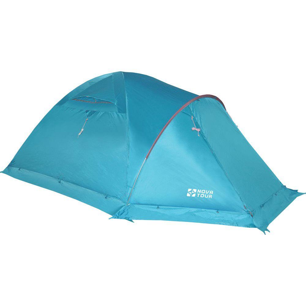 NOVA TOUR ТЕРРА 4 V2 четырёхместная палатка ветроустойчивая