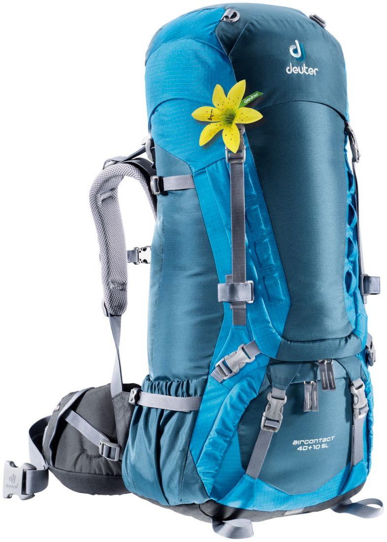 Deuter Aircontact Lite ACT Lite 35L + 10 SL steel-navy многофункциональный туристический рюкзак